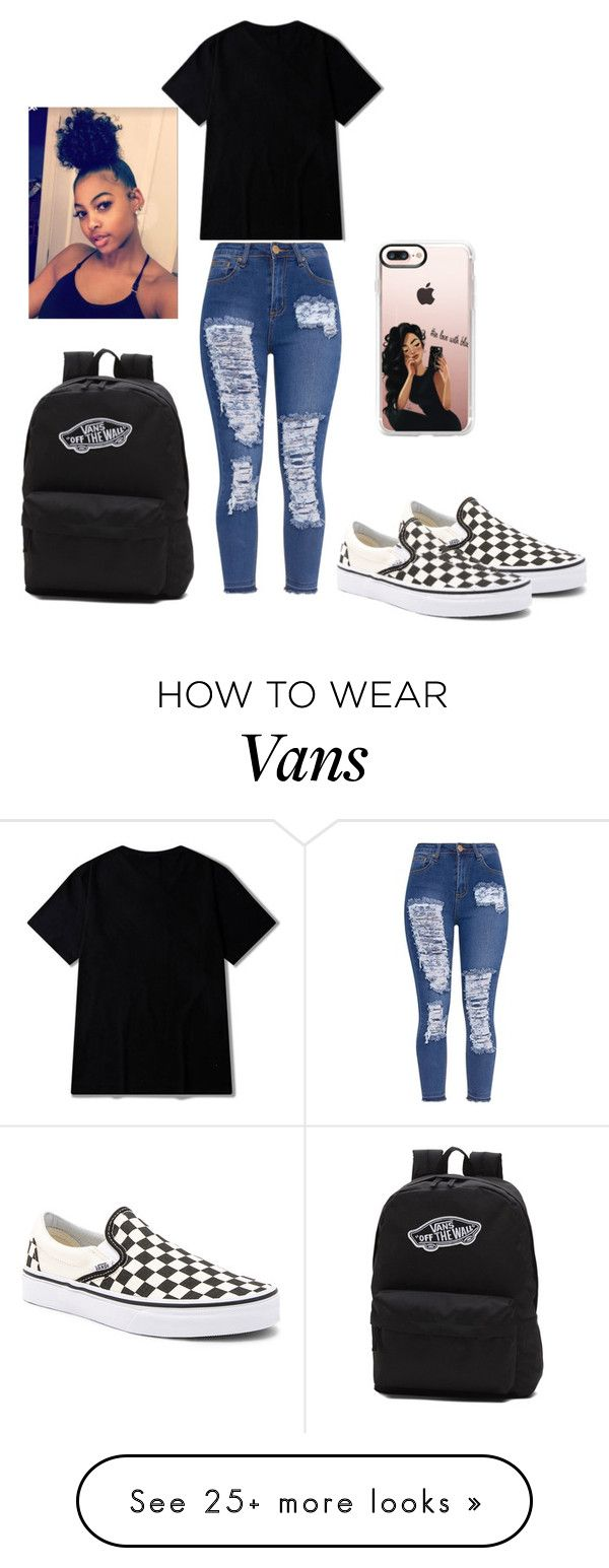 """""""simple school outfit"""" by queenb-676 on Polyvore featuring Casetify and Vans"""