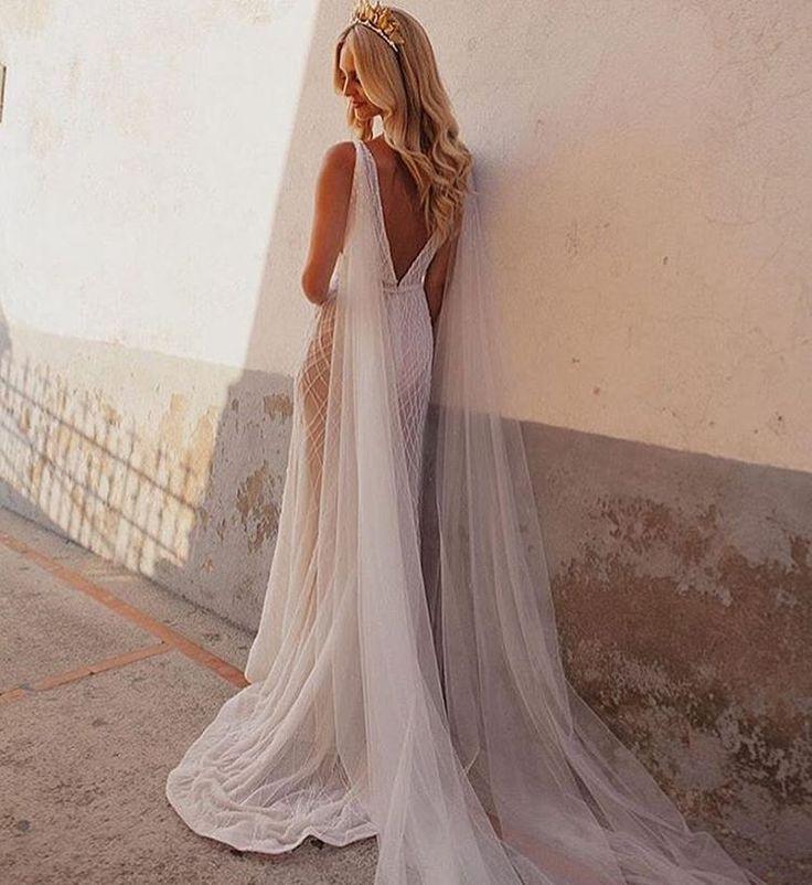 The beautiful @saasha_burns wearing her custom design Jane Hill Gown! Crowns by @viktorianovak • photography • @ameliafullarton #janehill #janehillbridal #bride #couture #positanowedding #weddingdress #handbeaded