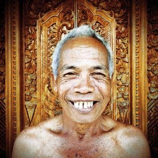 Smiling Old Balinese Man