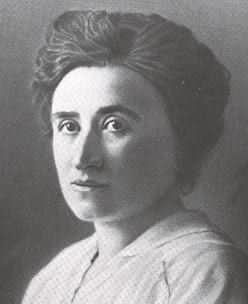 Rosa Luxembourg - leader of the Spartacist Uprising, later murdered and dumped in a ditch.