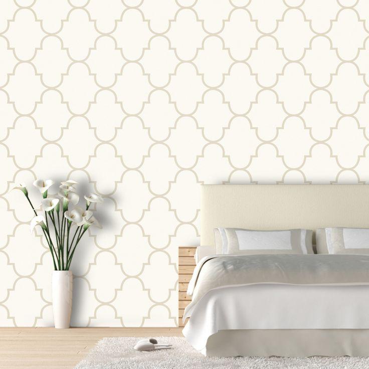Classic Trellis 9.5 Ft Removable Wallpaper