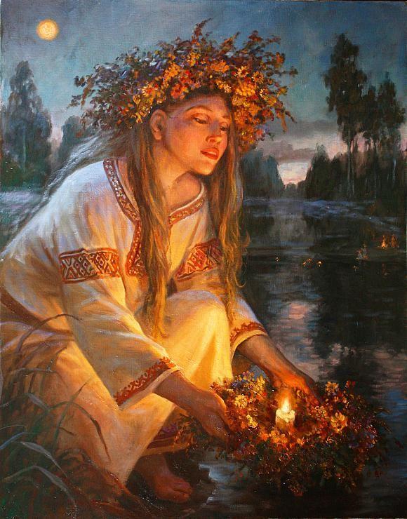 "На Купалу (which I believe means something like ""On Kupala"") by Andrey Shishkin."