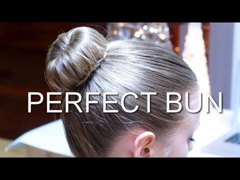 PERFECT BUN FOR FIGURE SKATERS / DANCERS / BALLET HAIRSTYLE | HOW TO | DIY with donut