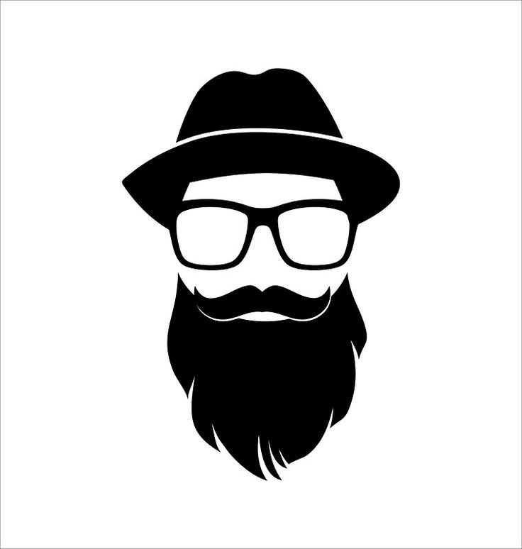 hipster dude sticker keh7