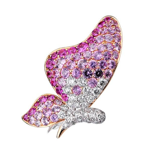 Brosa diamante si safire DRHK00015 ‐ Bijuteria Teilor