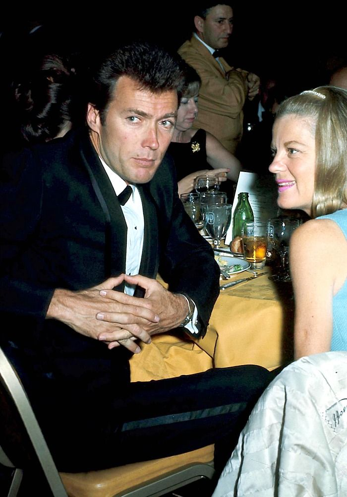 """""""Clint Eastwood and his wife Maggie at an unknown event, c. 1970. """""""