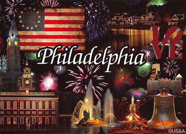 PCPA599 Set 50 X Postcards 4X6 Philadelphia Fireworks