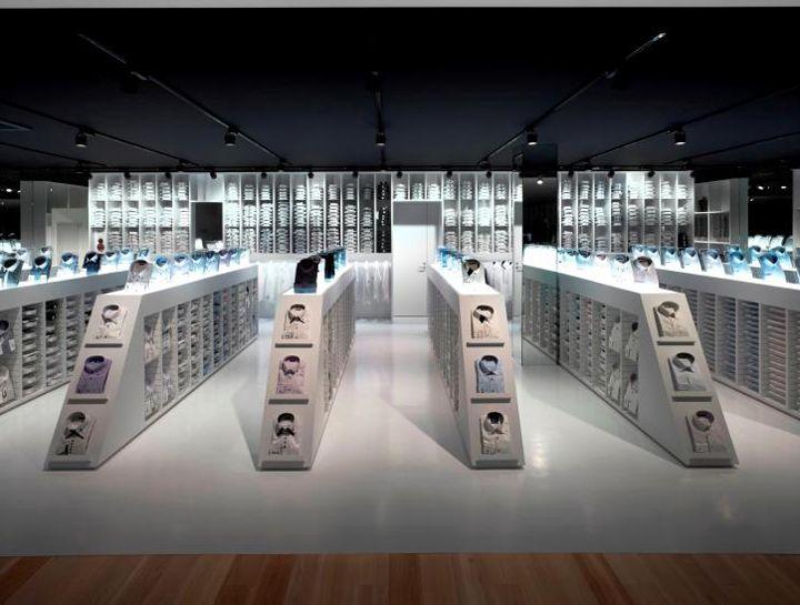 HALSUIT store by Nendo, OkayamaCommercials Design, Ideas, Interiors Design, Design Retail, Retail Stores, Nendo Okayama, Halsuit Stores, Bullets, Big Storage