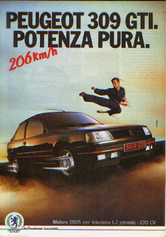 Peugeot 309 gti advertising pinterest peugeot for Garage peugeot paris nice belleville