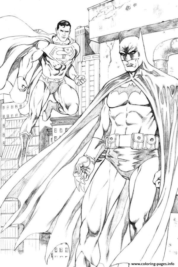 Batman And Superman For Print Free Coloring Pages Printable Who Doesn T Know Batman Ma Superhero Coloring Pages Batman Coloring Pages Superman Coloring Pages