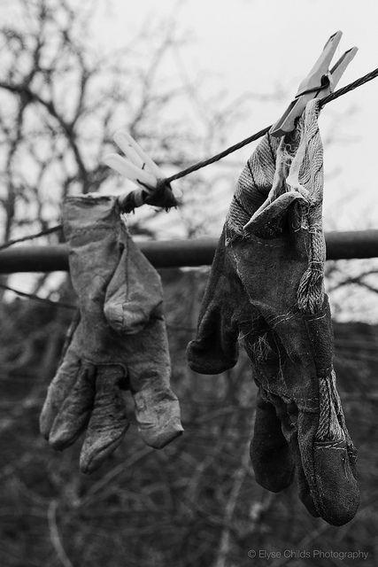 Garden gloves, St Joseph's Convent, Jerusalem   © Elyse Childs Photography