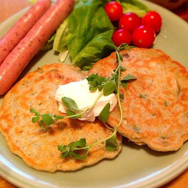 マジョラム(ハーブ)が手に入ったので作ってみました。 - 10件のもぐもぐ - ブランボラーク(ジャガイモのパンケーキ・チェコ料理) by ozmie666