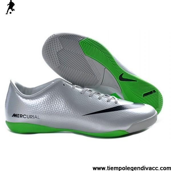 Latest Listing Cheap 2013 New Nike Mercurial Victory IV IC Indoor Futsal  Silver Green Black Soccer