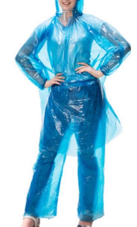 Disposable Rain Ponchos Poncho Raincoat/Set Of 2