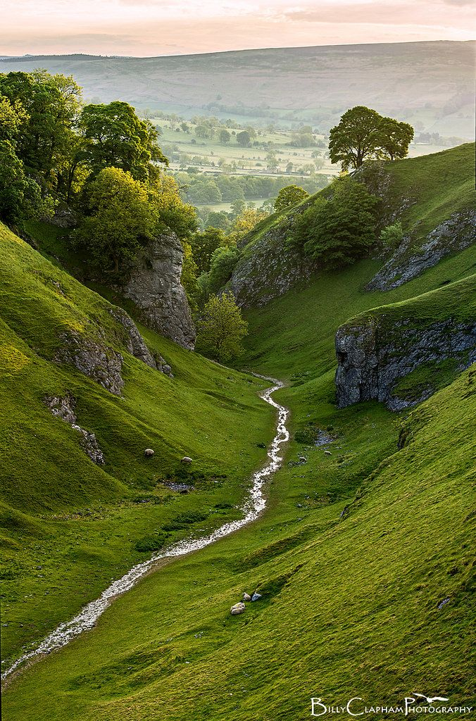 Fantastic Worlds — wanderthewood:   Cavedale, Derbyshire, England by...