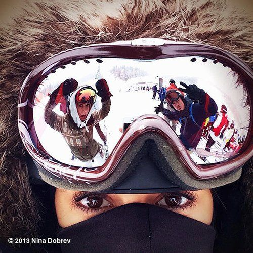 If freezing temps are keeping you from your regular runs, take a page from Nina's book and embrace the season for all it has to offer. The actress recently suited up with a few famous friends — Julianne and Derek Hough — and took to the slopes for a little snowboarding action. After a day on the slopes, make sure you take care of yourself with these soothing stretches and yoga poses. Source: Instagram user ninadobrev