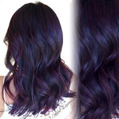 """All over color! """"Dark Blackberry Red    New Cut    Styled Tis the season for a change of color, now if only our weather could feel like fall instead of this 90 degree…"""""""
