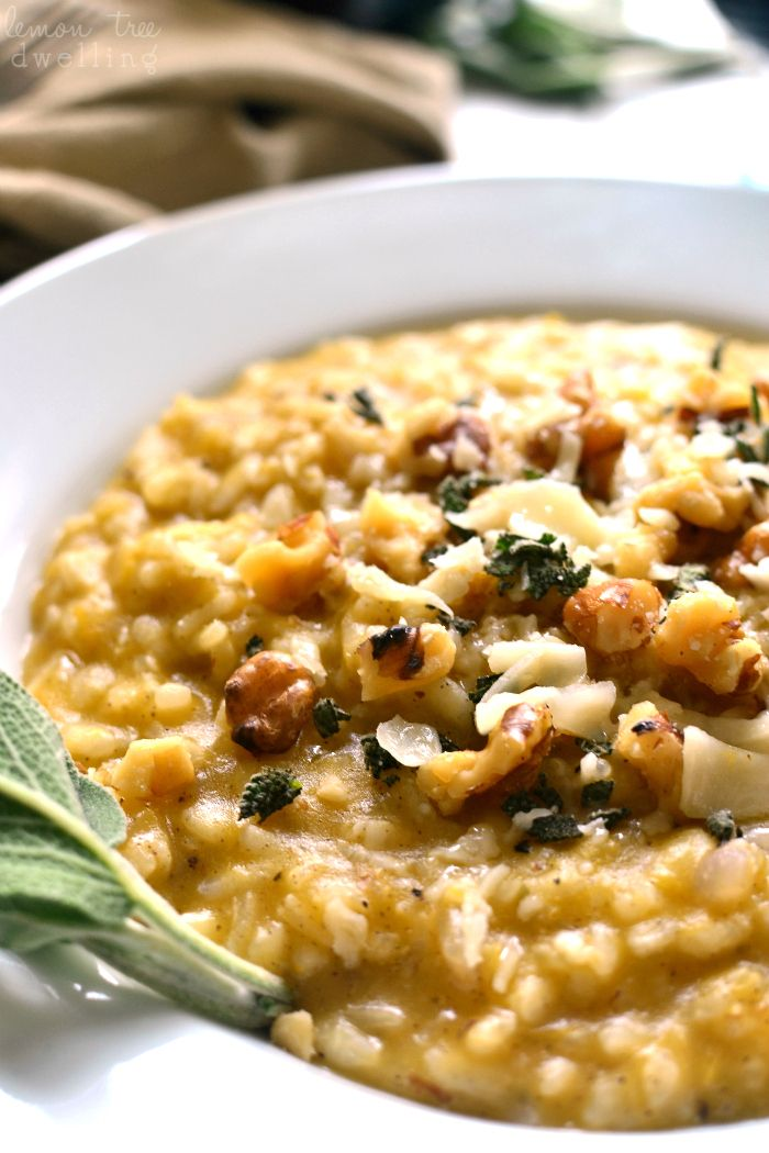 Butternut Squash Risotto is rich and creamy, flavored with allspice ...