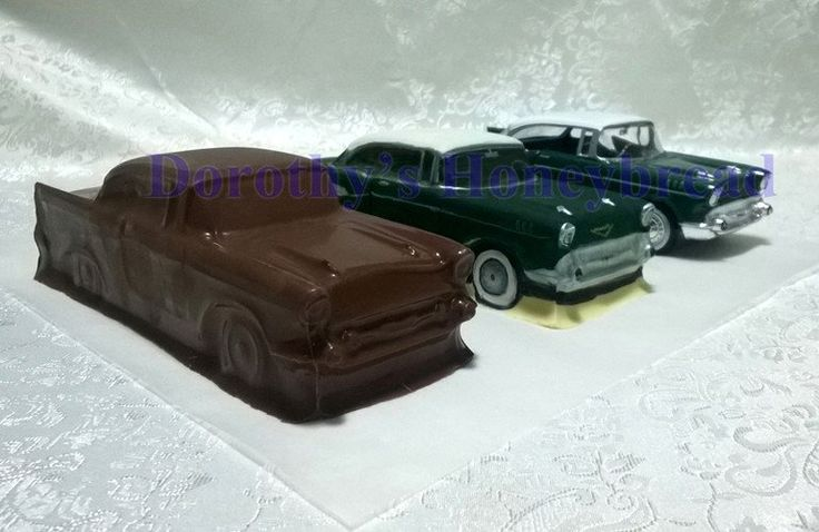 HAND MAIDE 100% edible HOLLOW Chocolate Chevrolet BelAir! EAT them, COLLECT them or Give them as a gift to someone special! MORE TO COME! Milk, dark, white chocolate. 22cm long, 8cm wide, 300g To order please send us a text message or email to: dorothys.honeybre... www.dorothyshoney... #dorothyshoneybread #chocolate #chocolatecar #chevrolet #handmaide #belair #chevroletbelair #christmas #gift #chocolatecake #chocolatemodel #choco #chocolatebelair #chocolatechevrolet