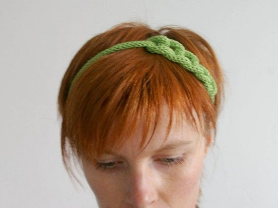 Headband Tricotin - Vert
