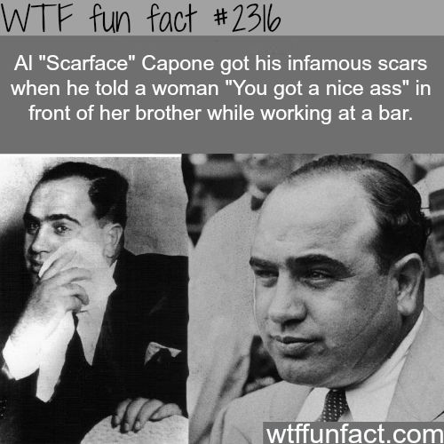 How did Al Capone get his Scars? - WTF fun facts