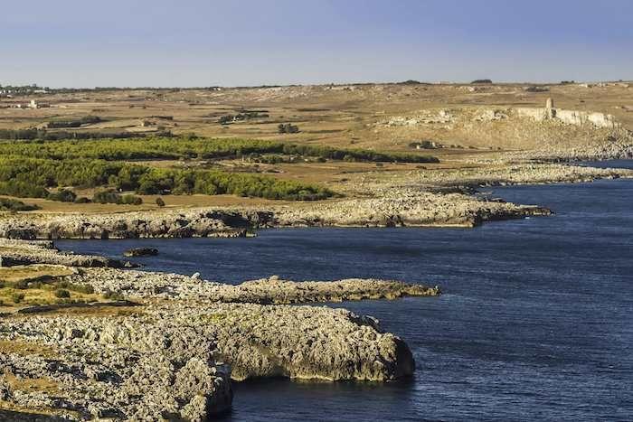 Cycle along the coastline near to Otranto