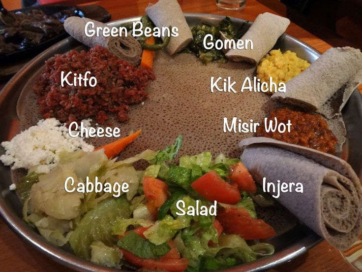 Meskerem Ethiopian Restaurant... Eating delicious foods like misir wot, kitfo, and kik alicha with injera – and our fingers!