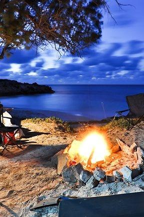Camping on the coast of Western Australia. By Brad Davidson