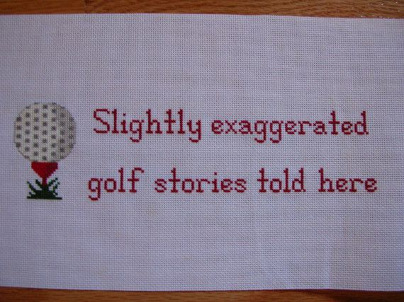 Cross Stitch  Golf Sampler  Completed and Ready by LittlestSister