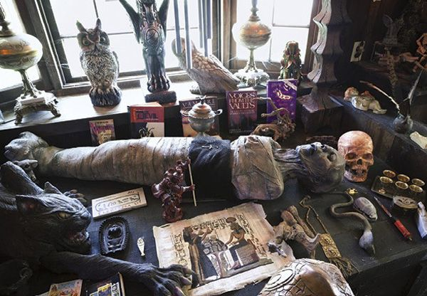 Haunted artifacts in the Warrens Occult Museum in Monroe, CT.