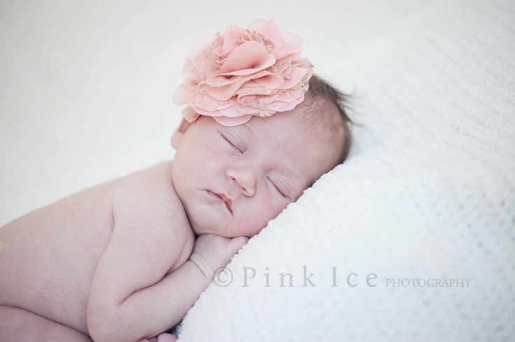 Love the Vintage flower, natural light newborn photography