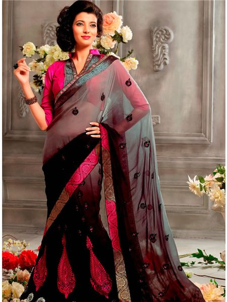 black designer wedding saree awesome designer sarees wedding sarees party wear sarees collection from shivam prints pinterest uxui designer