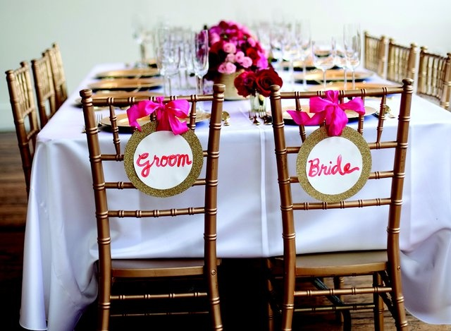 Head table! Decor by the Party Place.