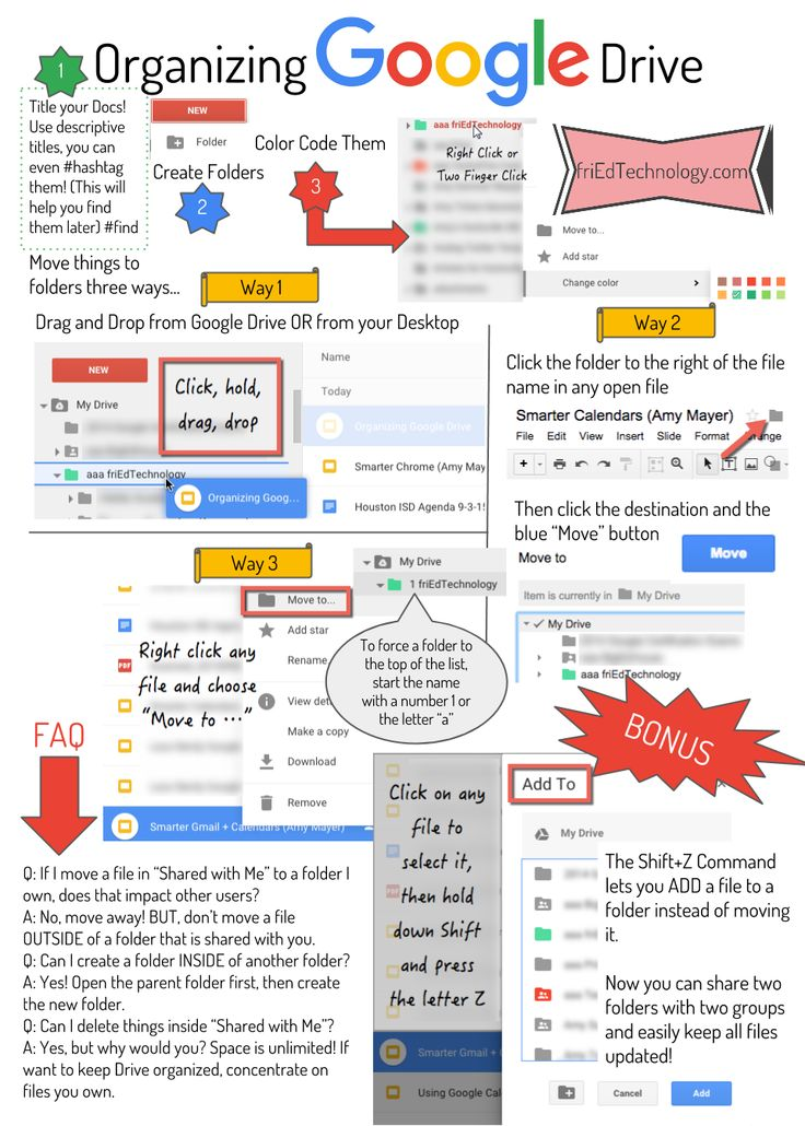 Figuring out how to keep Google Drive organized seems to baffle many users. Here's a handy infographic to remind you of some tips and techni...