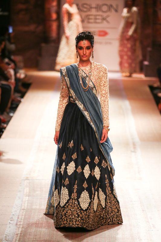 Lengha by Anju Modi at Lakme Fashion Week 2014