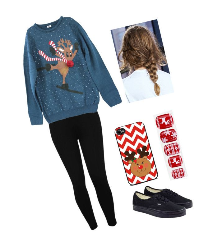 """""""🎄"""" by milkshake69 ❤ liked on Polyvore featuring M&Co, Vans and Elegant Touch"""