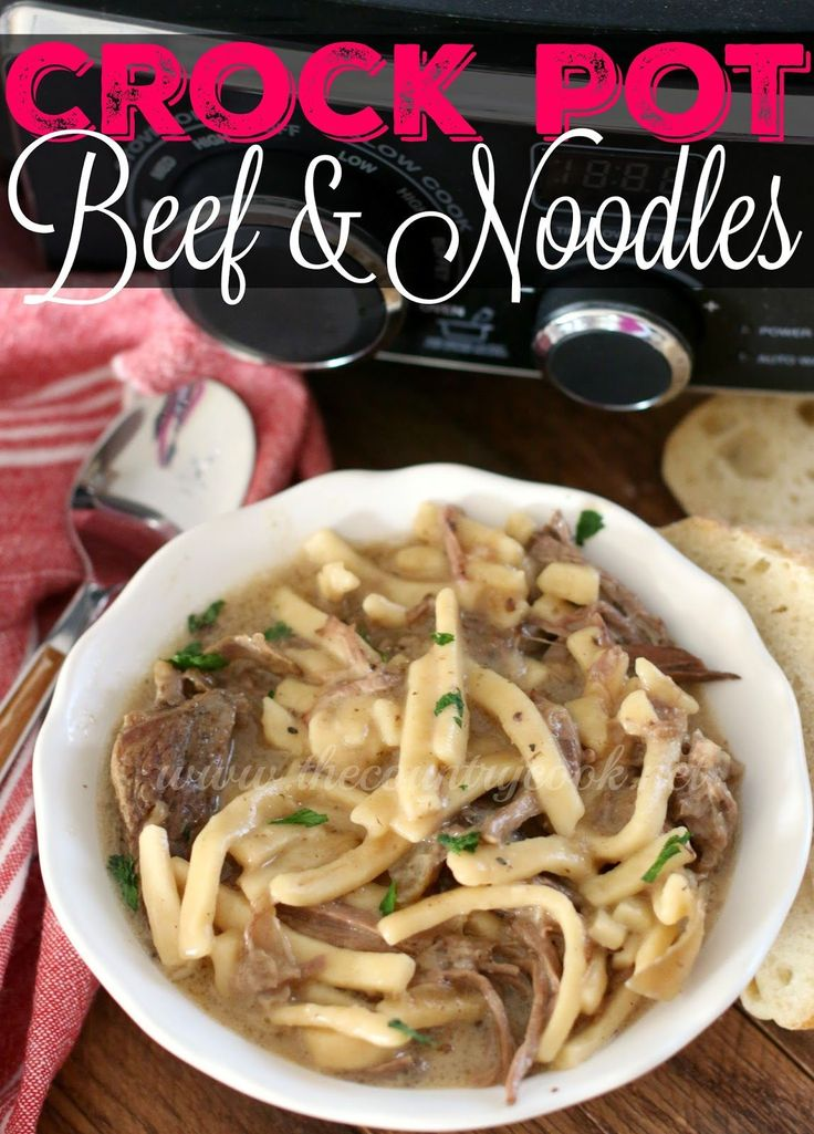 Crock Pot Beef & Noodles is inspired by a classic Midwestern dish. This one is so easy to make and it is made simpler by using a slow cooker! So yum!!
