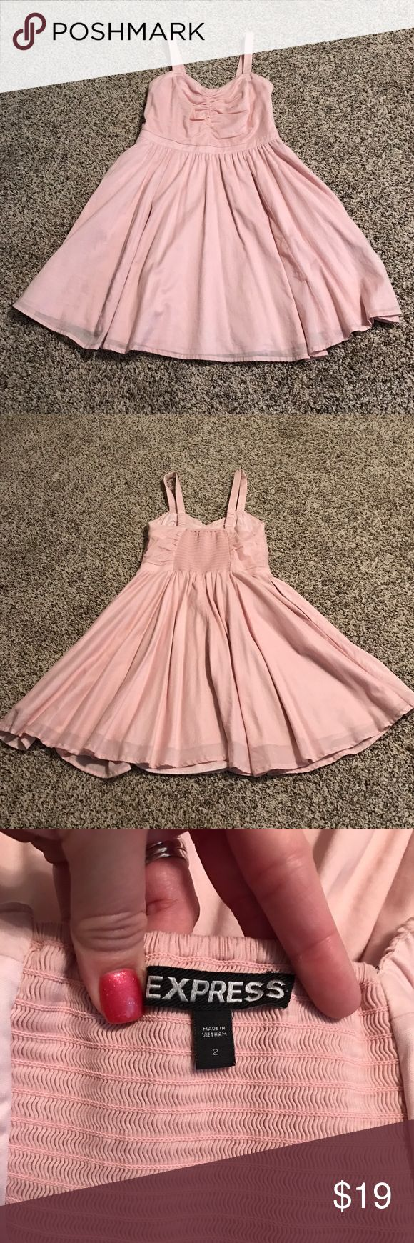 Express pink mini dress - only worn once! Like new. Mini dress. Very flattering and comfy. Express Dresses Mini