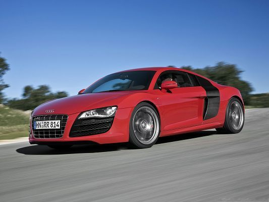 Beautiful Cars Picture, Super Audi R8 Car in Incredible Speed