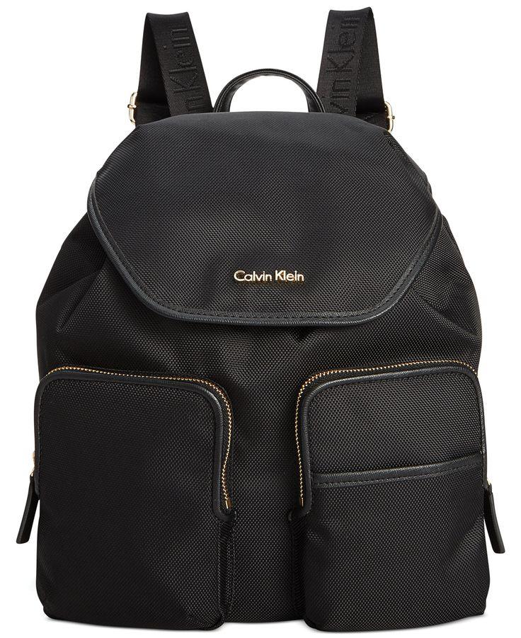 Calvin Klein Parker Ballistic Nylon Backpack - Backpacks - Handbags & Accessories - Macy's