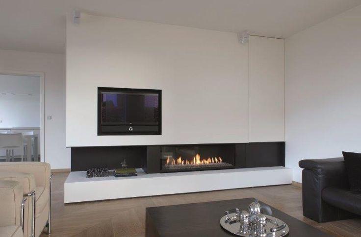 Best 10 tv wand modern ideas on pinterest tv wohnwand tv wand im raum and tv wand do it yourself - Deco moderne open haard ...