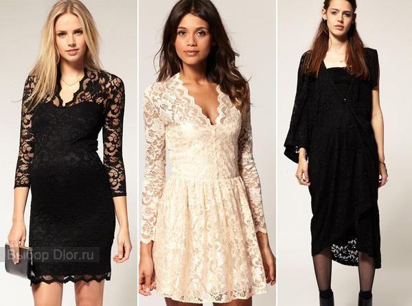 Бежевое кружевное вечернее платье купить