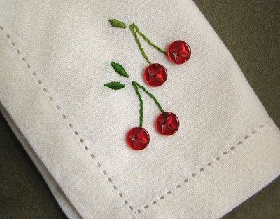 Fruity button napkins | How About Orange