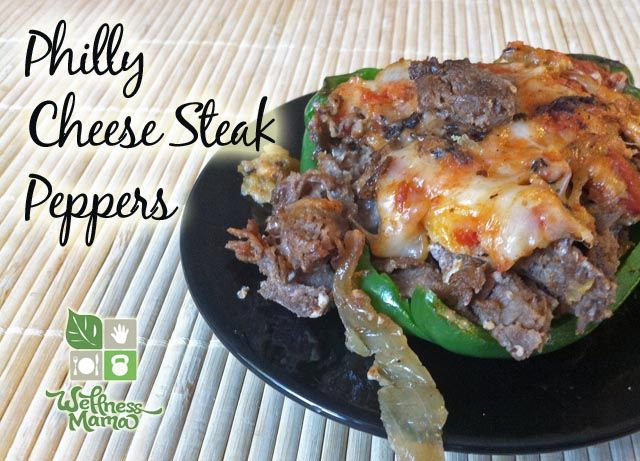 Philly Cheese Steak Peppers -delicious and healthy dinner idea that comes together quickly!: Recipe, Philly Cheese Steaks, Grain Free, Beef, Bell Peppers, Steak Peppers, Peppers Philly, Cheesesteak Bell, Philly Cheesesteak