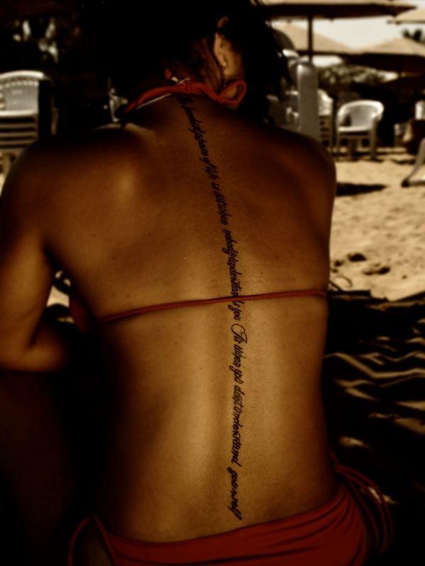110 Elegant Spine Tattoos For Men & Women cool