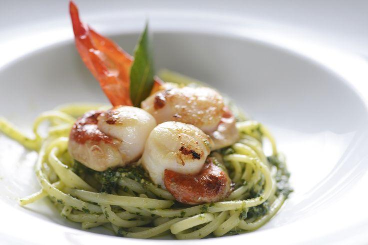 Tagiolini com Molho Pesto à Genovese e Vieiras   Massas   Mais Você - Receitas Gshow