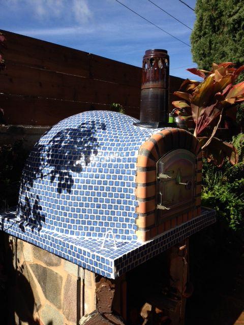 Brick Pizza Oven In Tiles Summer Kitchen Ideas