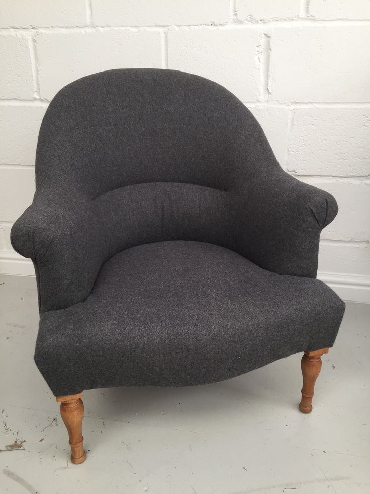 French Napoleon armchair in Warwick Amatheon Armour wool