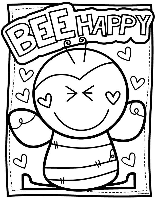 Coloring Club From The Pond Bee Coloring Pages Valentine
