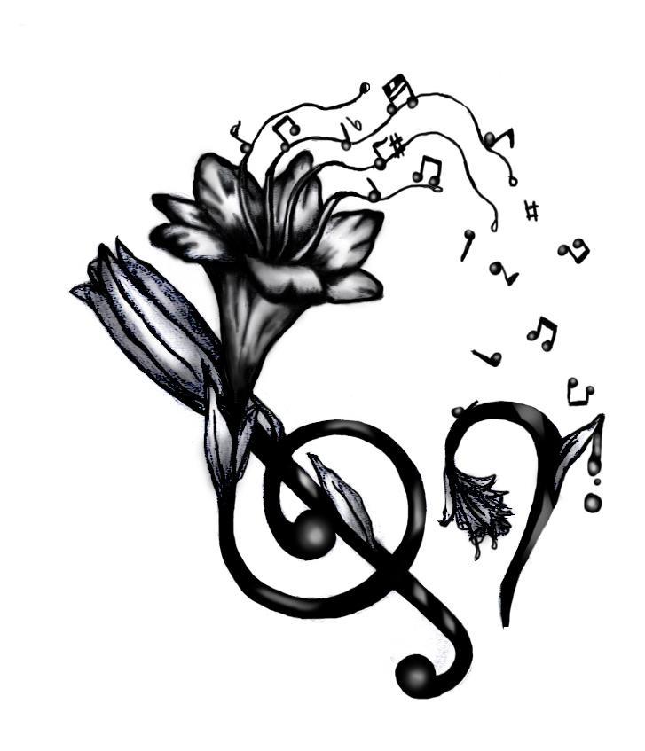 Картинки скрипичного ключа для тату